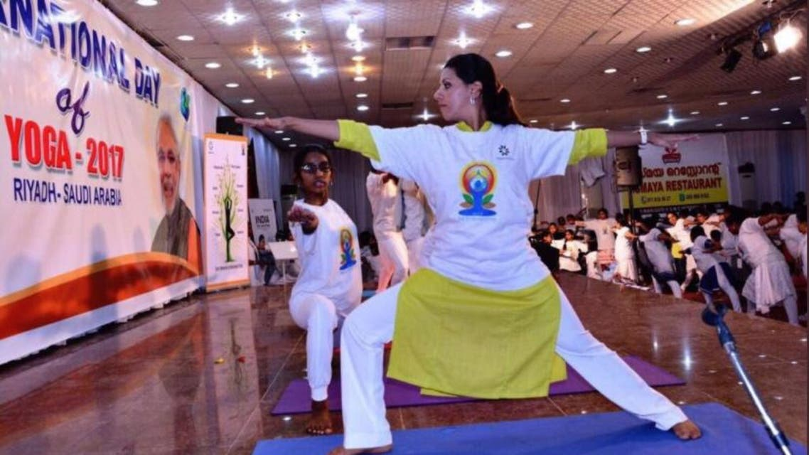 Indian diplomatic missions in Saudi Arabia organized maiden Yoga sessions in various Indian schools in the country. (Social media)