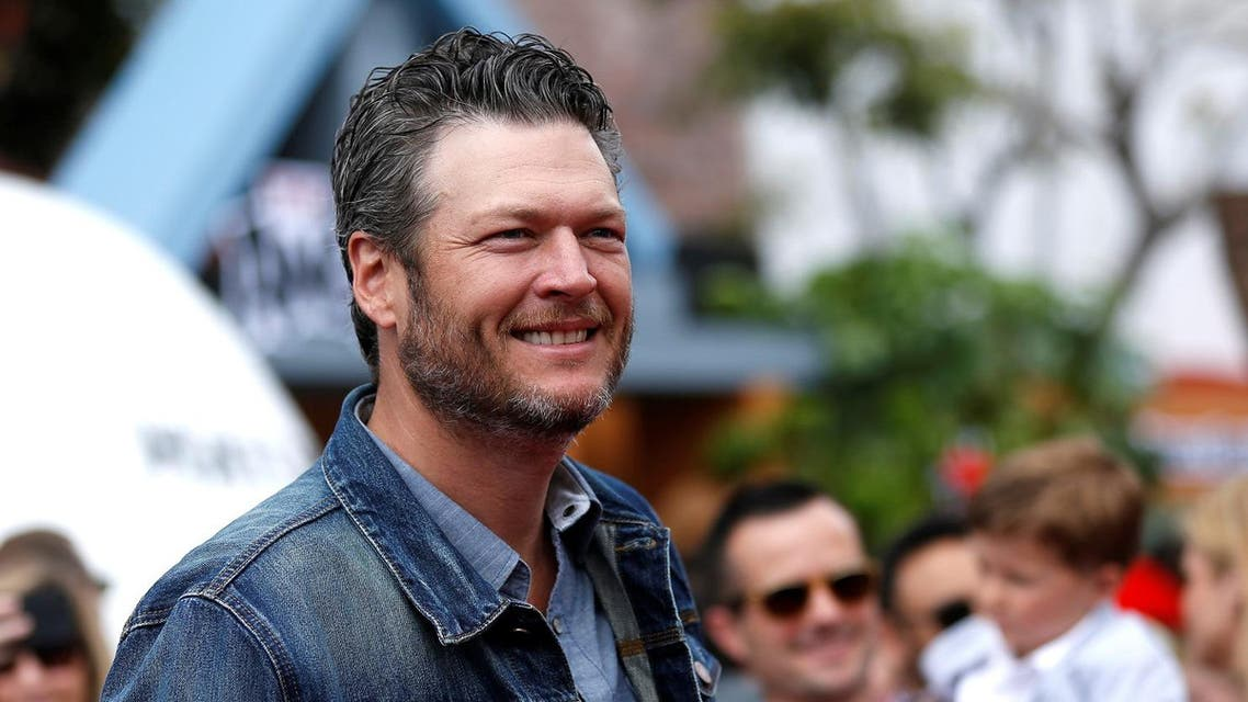 """Cast member Blake Shelton poses at the premiere for """"The Angry Birds Movie"""" in Los Angeles, U.S., May 7, 2016. (Reuters)"""