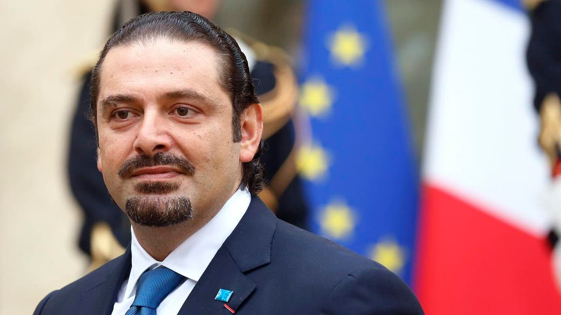 Former Lebanese Prime Minister Saad al-Hariri leaves after a meeting at the Elysee Palace in Paris October 7, 2014. (Reuters)