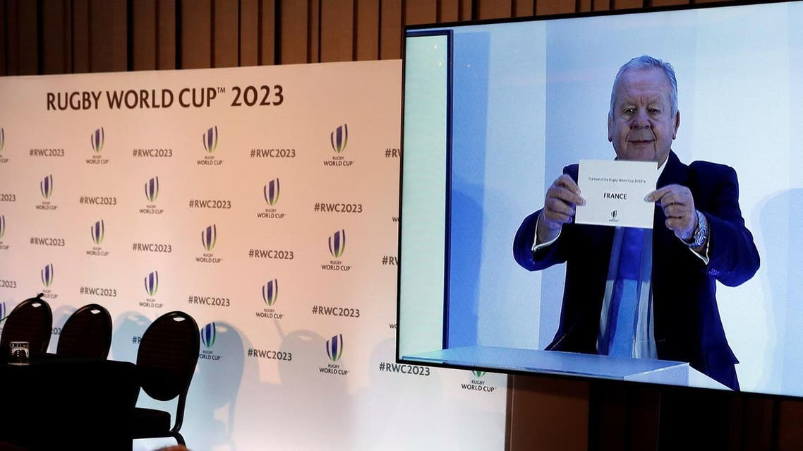 France is announced by World Rugby chairman Bill Beaumont as the wining bid to host the 2023 Rugby World Cup. (Reuters)