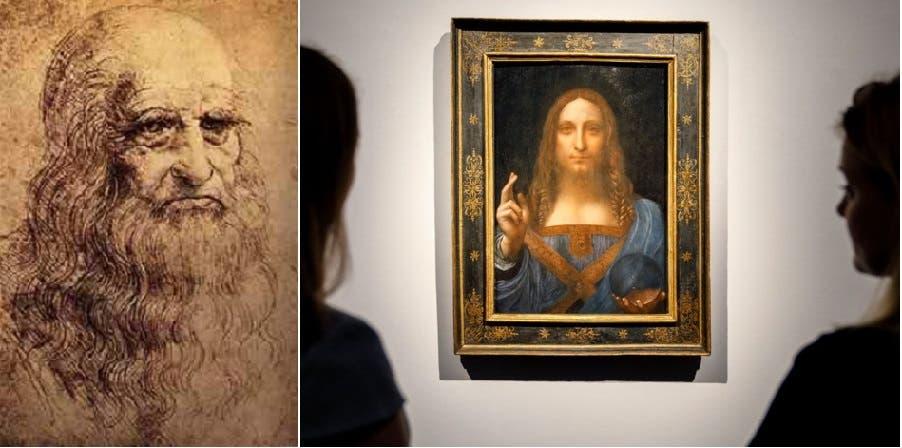 اللوحة وراسمها الفنان كما رسم نفسه
