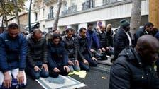 پیرس: جگہ نہ ہونے کے سبب سڑک پر نماز کی ادائی، کنزرویٹو پارٹی کا احتجاج
