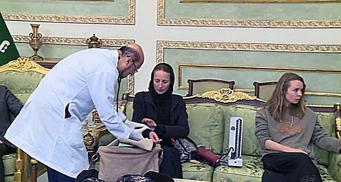 صحفيتين فرنسيتين في السعودية