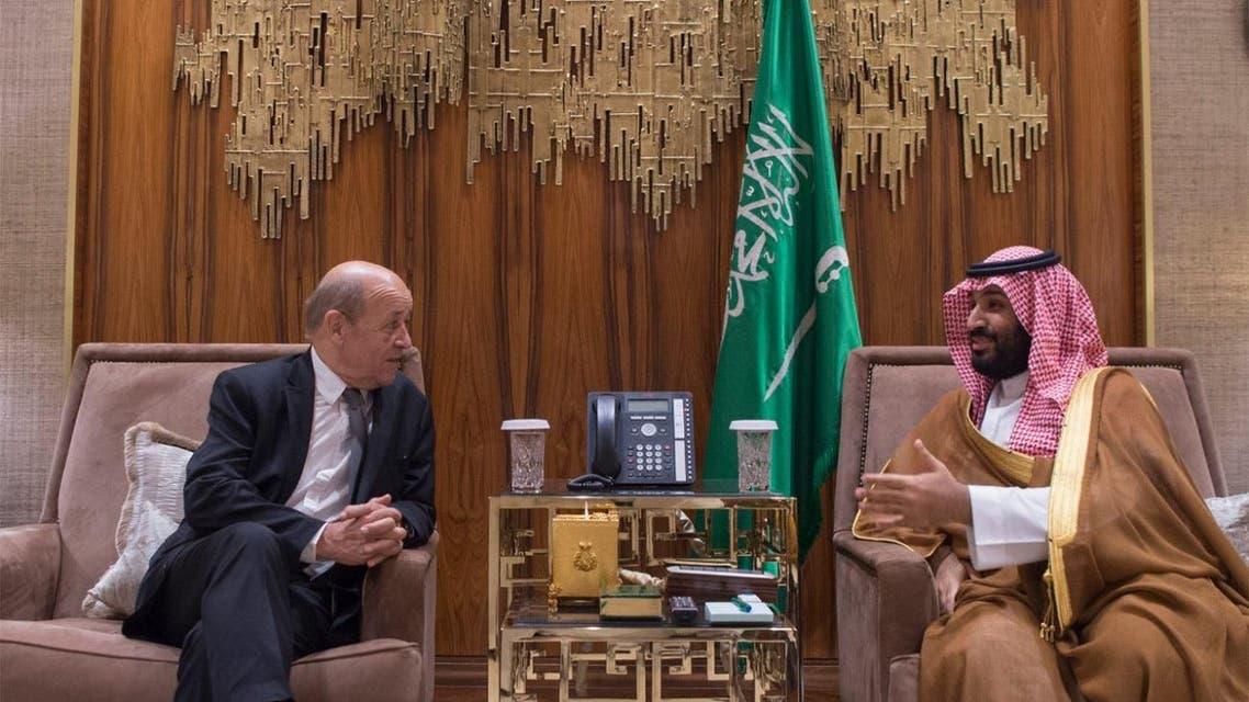 Saudi crown prince, French FM discuss Mideast developments
