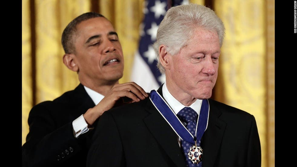كلينتون وأوباما