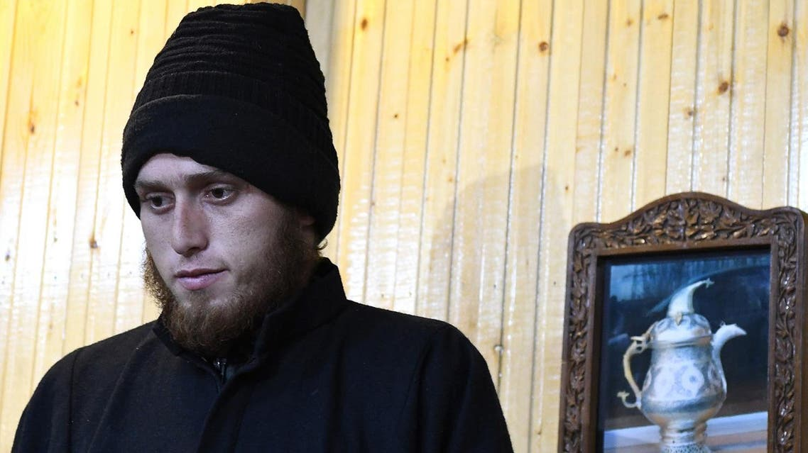 A 20-year-old footballer Majid Khan who joined Lashker-e-Toiba (LeT) militant group and handed himself to the government forces, looks on at a press confrence in Awantipora, south of Srinagar on November 17, 2017. (AFP)