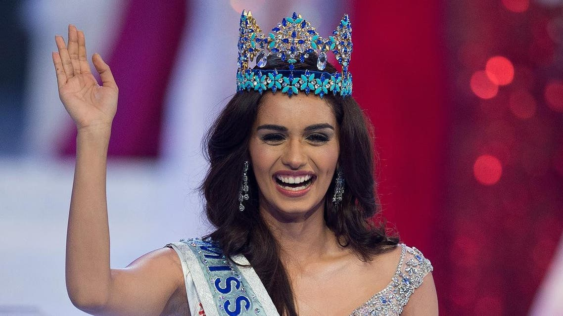 Miss India Manushi Chhilar wins the 67th Miss World contest final in Sanya, on the tropical Chinese island of Hainan on November 18, 2017. (AFP)
