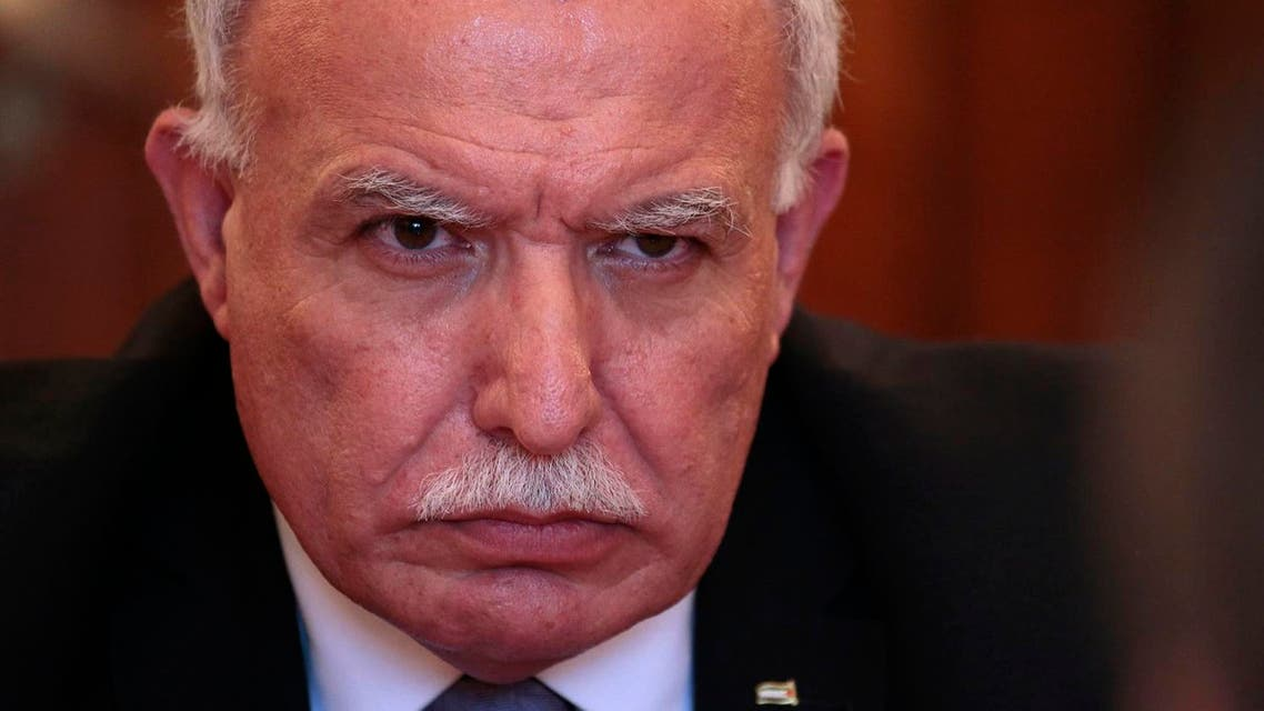 Palestinian foreign minister Riad Malki. (File photo: AP)