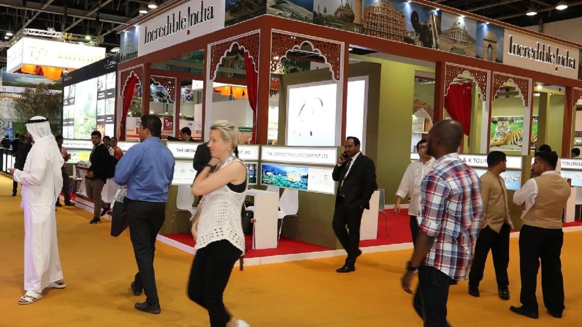 The India stand at ATM 2017, with 25 Indian participants in total including two regional tourism boards. (Supplied)