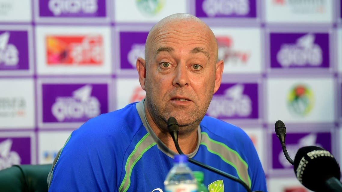 File photo of Australian head cricket coach Darren Lehmann speaking during in a press conference at the Sher-e-Bangla National Cricket Stadium in Dhaka on August 21, 2017. (AFP)