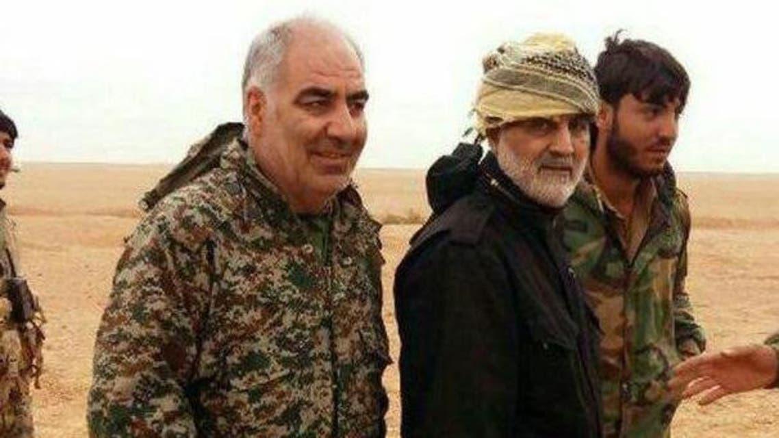 اللواء خير الله صمدي مع سليماني في سوريا