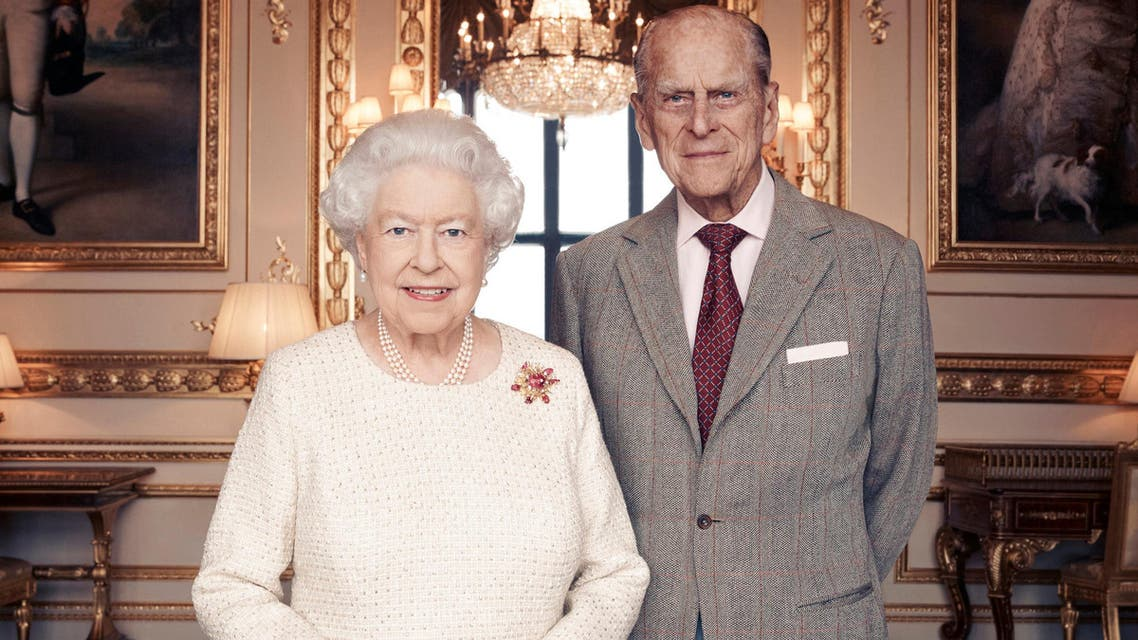 Handout photo issued November 18, 2017 by Camera Press of Britain's Queen Elizabeth II and Prince Philip, Duke of Edinburgh, taken in the White Drawing Room at Windsor Castle in early November, in celebration of their platinum wedding anniversary on November 20. Matt Holyoak/CameraPress/PA Wire/Handout via REUTERS MANDATORY CREDIT. FREE EDITORIAL USE UNTIL DECEMBER 3RD. FOR EDITORIAL USE ONLY, NO COMMERCIAL, SOUVENIR, COVERS OR PROMOTIONAL USE PERMITTED. THE PHOTOGRAPH CANNOT BE CROPPED, MANIPULATED OR ALTERED IN ANY WAY. THIS PICTURE WAS PROVIDED BY A THIRD PARTY. NO RESALES. NO ARCHIVE. *** Local Caption *** BSMID7043185