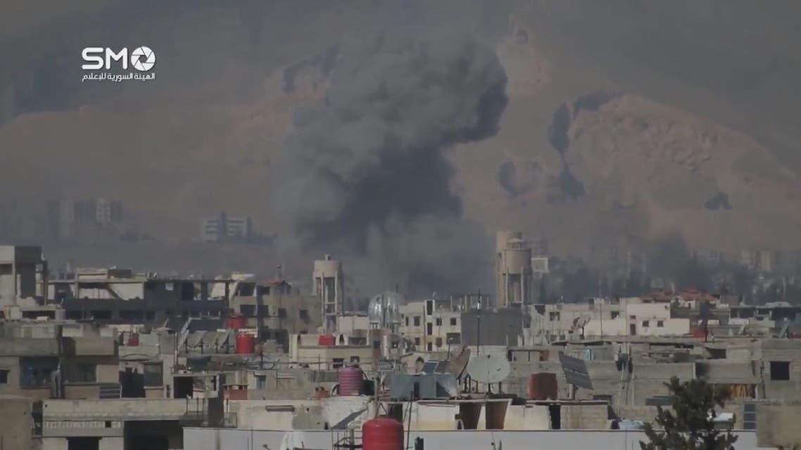 THUMBNAIL_ حملة الأسد العنيفة على الغوطة مستمرة