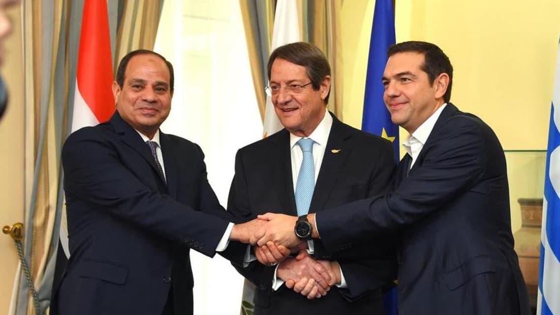 اتفاق مصري قبرصي يوناني على التصدي للإرهاب والتطرف