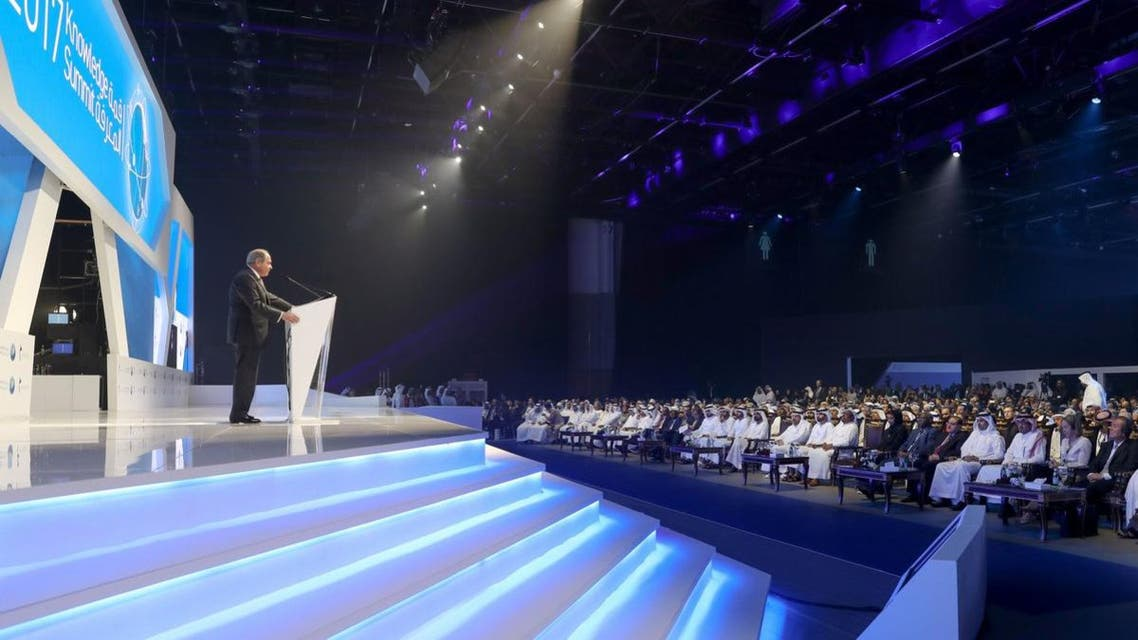 The fourth edition of the summit, whose theme is 'Knowledge and the Fourth Industrial Revolution,' is taking place from November 21 to 22, in Dubai
