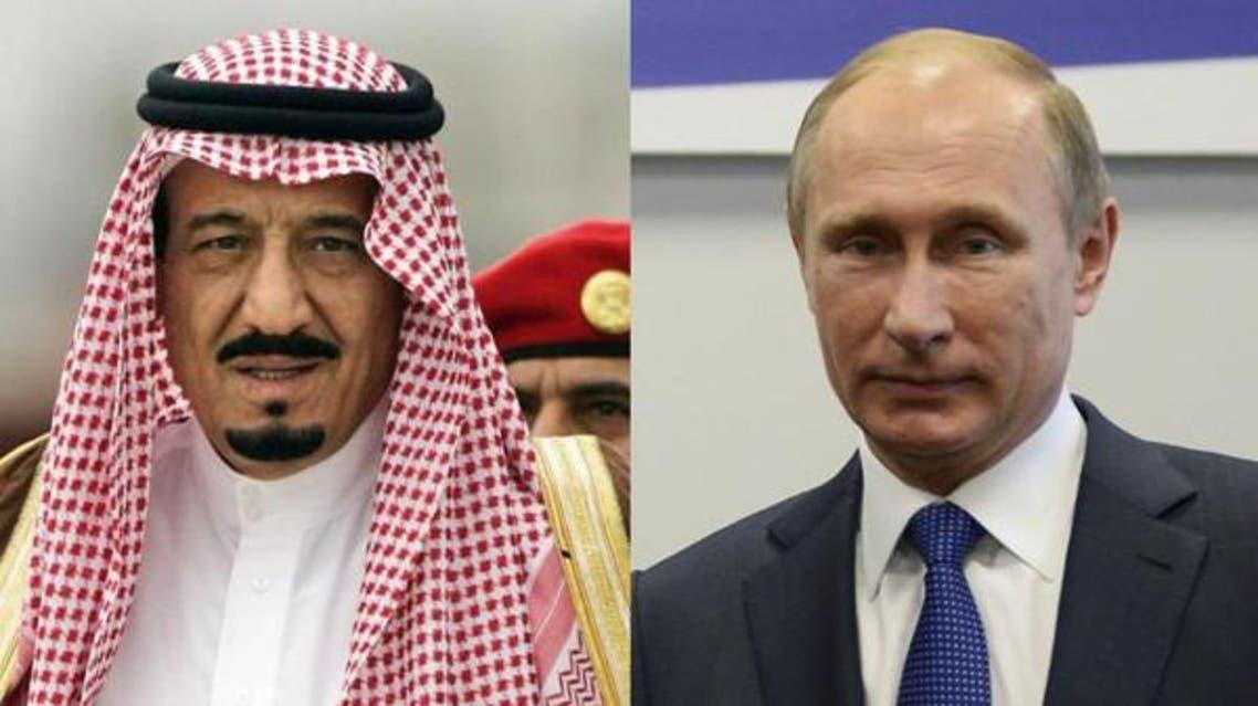 ملک سلمان و ولادیمیر پوتین درباره اوضاع سوریه گفتگو میکنند