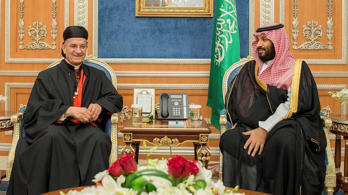 Saudi Crown Prince Mohammed bin Salman meets with Lebanese Maronite Patriarch Bechara Boutros Al-Rahi in Riyadh, November 14, 2017. reuters
