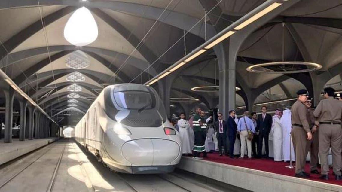 مکه مکرمه از آغاز به کار اولین قطار حرمین شریفین استقبال کرد