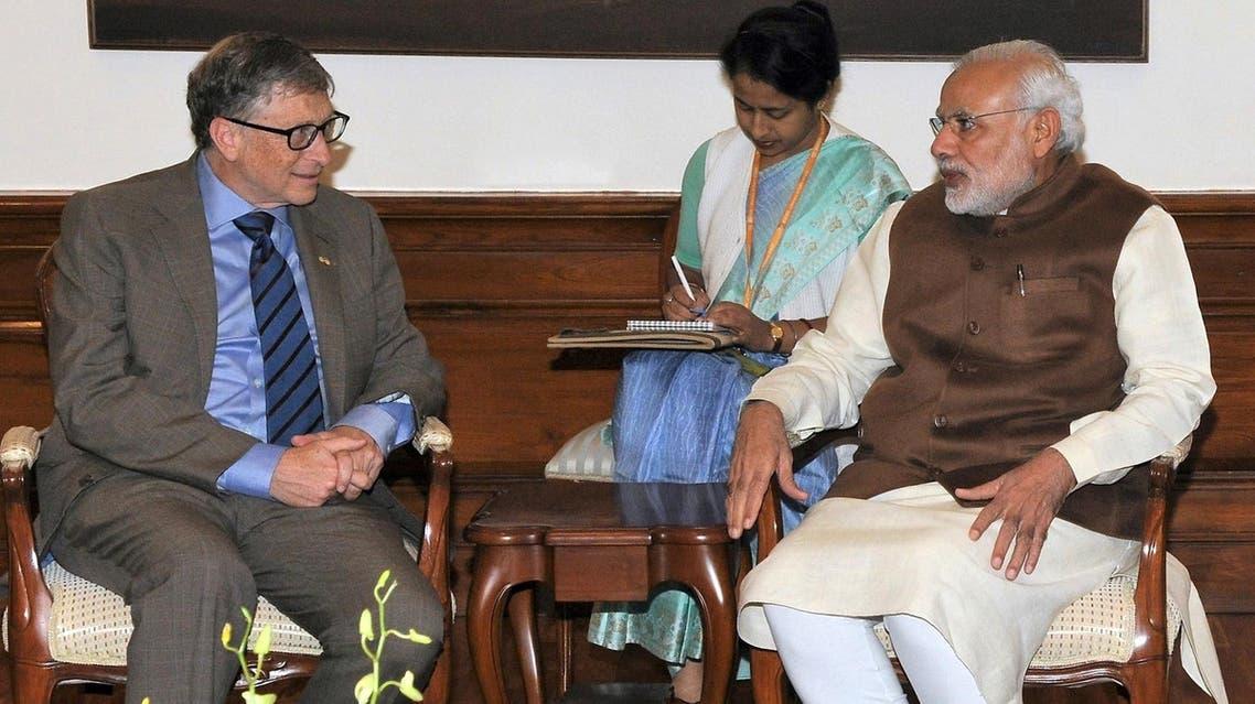 Bill Gates with Prime Minister Narendra Modi in New Delhi on December 4, 2015. (AFP)