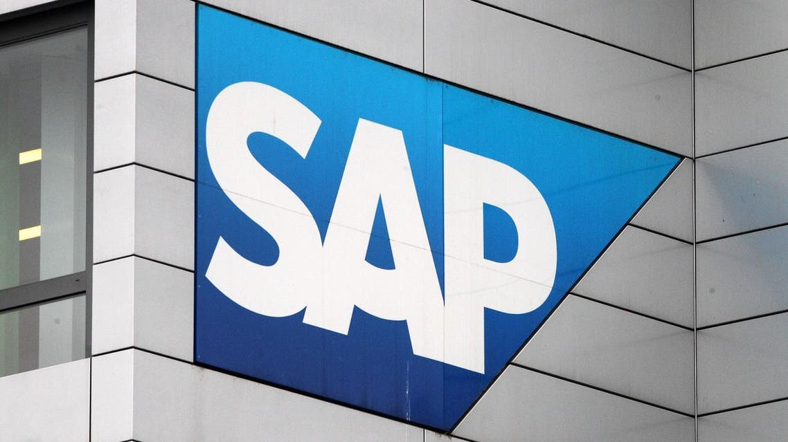 The logo of German software giant SAP at the company's headquarters in Walldorf near Heidelberg, southern Germany. (AFP)