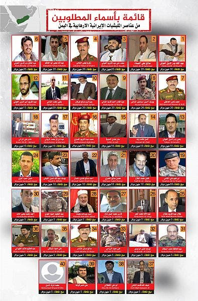 قائمة المطلوبين - ال 40 - اليمن