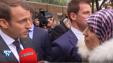 WATCH: Macron gives shocking response to Moroccan woman