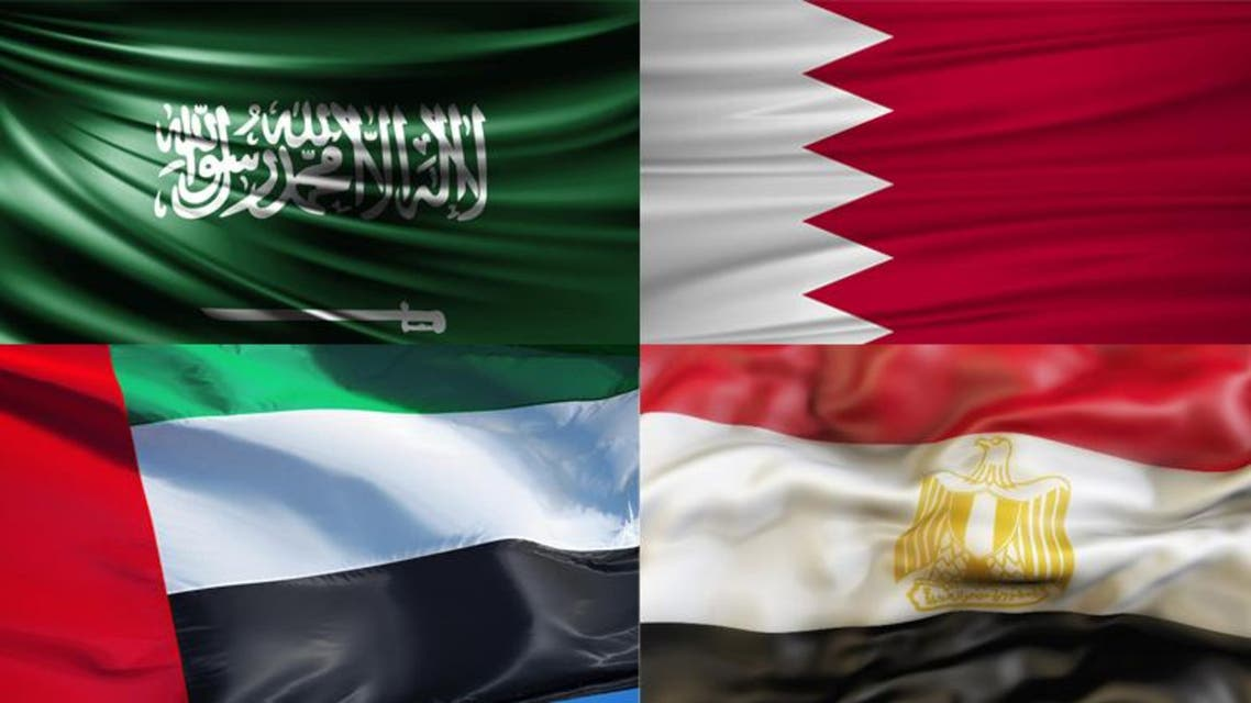 anti terror quartet gflags saudi bahrain egypt uae flag