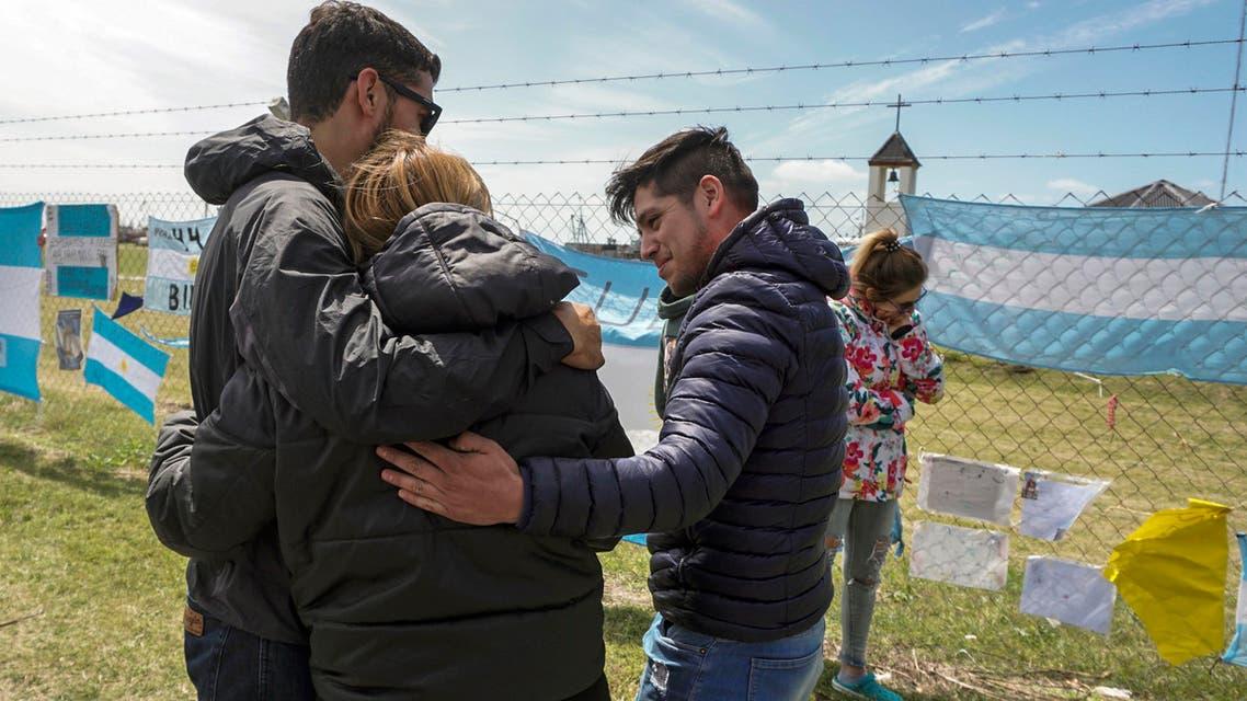 أقارب لطاقم الغواصة الأرجنتينية المفقودة