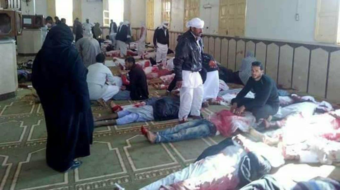 من تفجير مسجد العريش - مصر 3