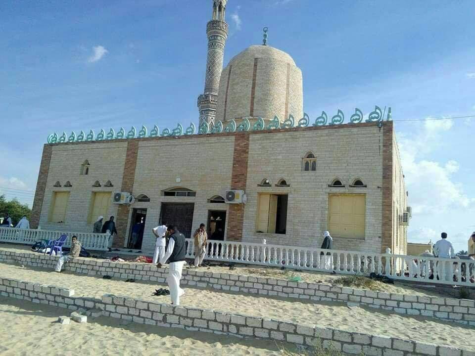 المسجد الذي استهدفه الإرهابيون