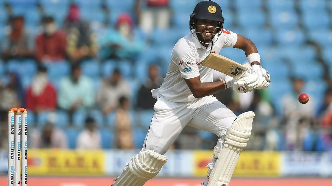 Sri Lanka captain Dinesh Chandimal plays a shot during the first day of the second Test  between India and Sri Lanka in Nagpur on November 24, 2017. (Reuters)