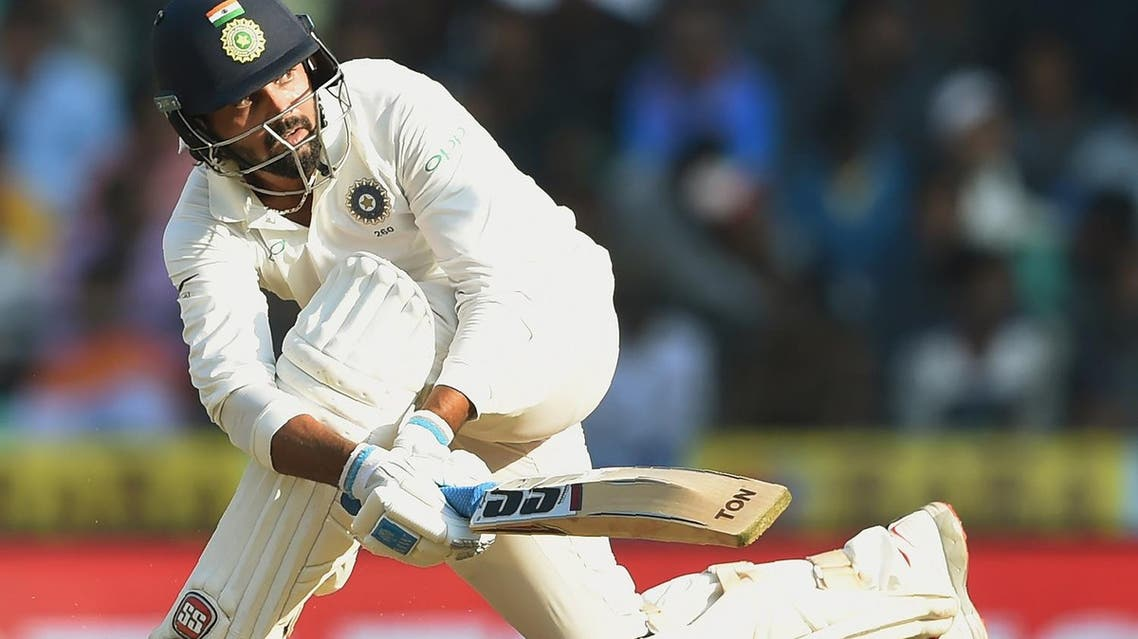 Indian cricketer Murali Vijay plays a shot during the second day of the second Test against Sri Lanka in Nagpur, India,  on November 25, 2017. (AFP)