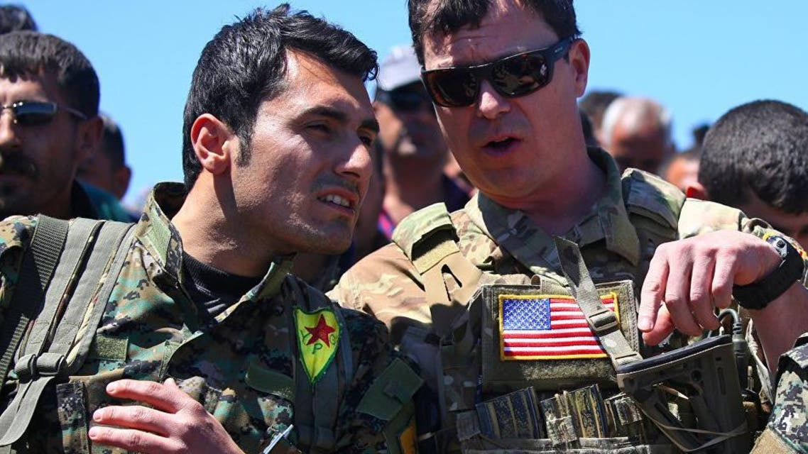 US-led coalition military advisers have been assisting YPG fighters