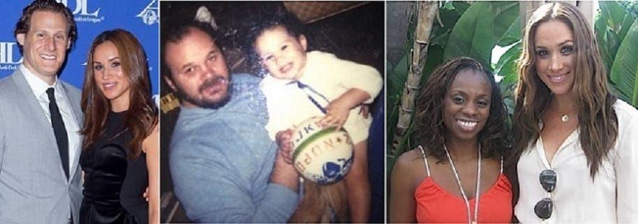 مع والدتها دوريا، وصورة مع أبيها وهي طفلة، ثم مع طليقها المنتج السينمائي الأميركي