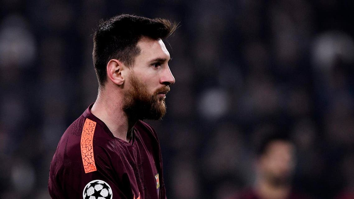 Barcelona's Argentinian forward Lionel Messi looks on during the UEFA Champions League Group D football match Juventus Barcelona on November 22, 2017 at the Juventus stadium in Turin. Barcelona advanced to the Champions League last 16 on Wednesday after clinching top spot in Group D following a 0-0 draw against Juventus in Turin. Federico TARDITO / AFP