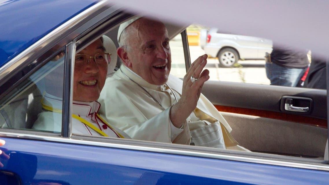 Pope reached Mynmar