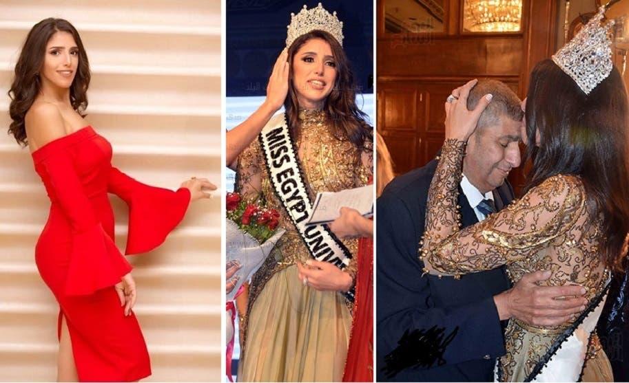قبلة من فرح على جبين والدها، الدكتور عبد الرحيم صدقي، أستاذ القانون الجنائي بجامعة القاهرة
