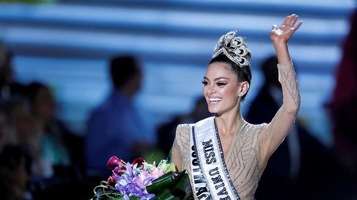 Demi-Leigh Nel-Peters, 22, who unleashed a big smile when she won, hails from Western Cape Province. (Reuters)