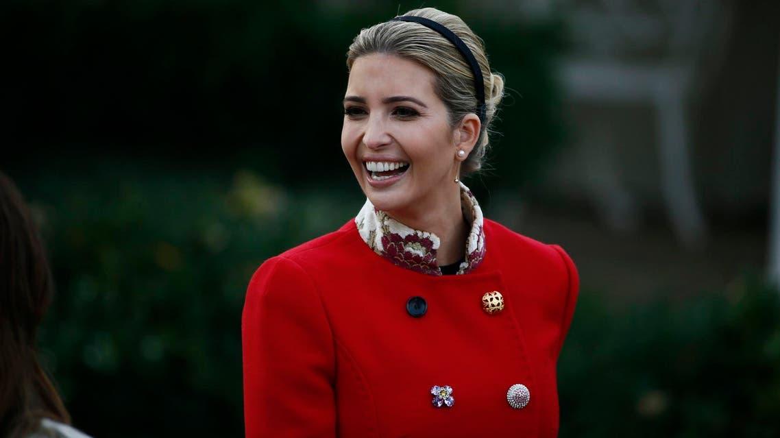 Ivanka Trump arrives in the Rose Garden prior to the 70th National Thanksgiving turkey pardoning ceremony at the White House on November 21, 2017. (Reuters)