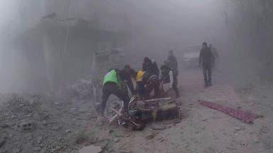 بعد قصف عنيف.. دخول قافلة مساعدات للغوطة الشرقية