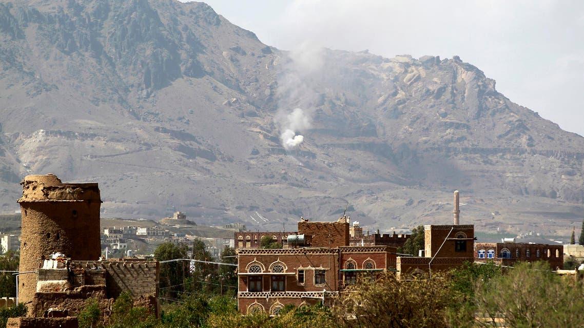 Smoke billows following an air-strike by Saudi-led coalition on June 1, 2015, (AFP)