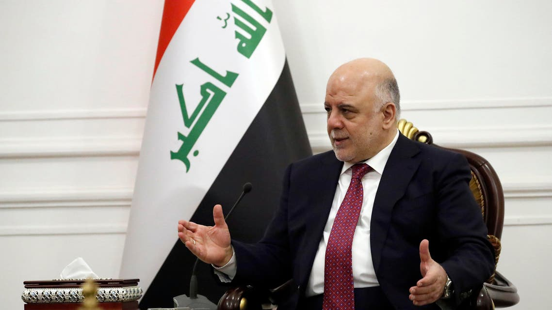 Iraq's Prime Minister Haider al-Abadi meets with US Secretary of State in Baghdad on October 23, 2017. US Secretary of State Rex Tillerson flew in to the Iraqi capital on a surprise visit for talks with Iraq's Prime Minister and President Fuad Massum. Alex Brandon / POOL / AFP