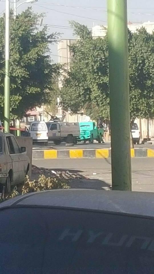صورة من مناطق اتساع الاشتباكات بين طرفي الانقلاب في صنعاء