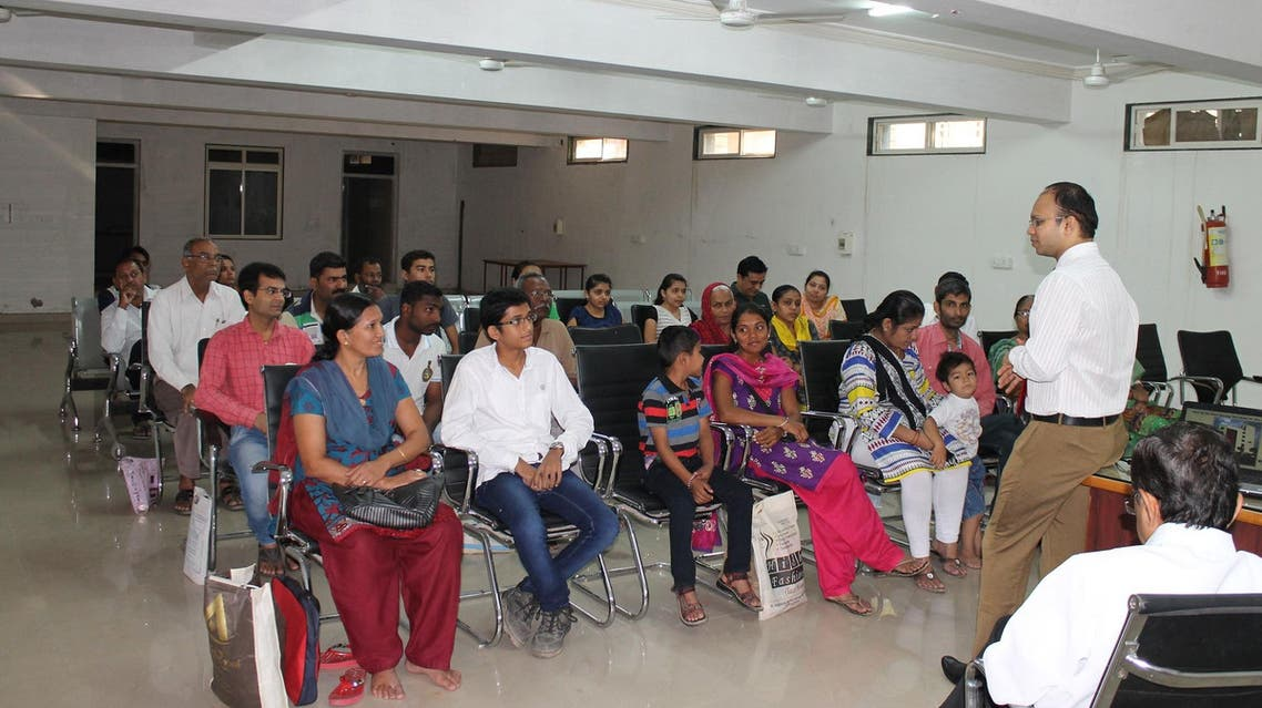 Dr Yash Patel (addressing) says that diabetics looking for a spouse have to make comprises. (Supplied)