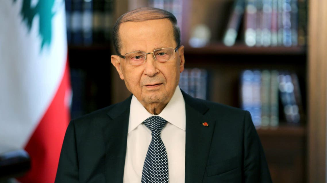 Lebanese President Michel Aoun is seen in Baabda, Lebanon, November 21, 2017. Dalati Nohra/Handout via REUTERS ATTENTION EDITORS - THIS IMAGE HAS BEEN SUPPLIED BY A THIRD PARTY