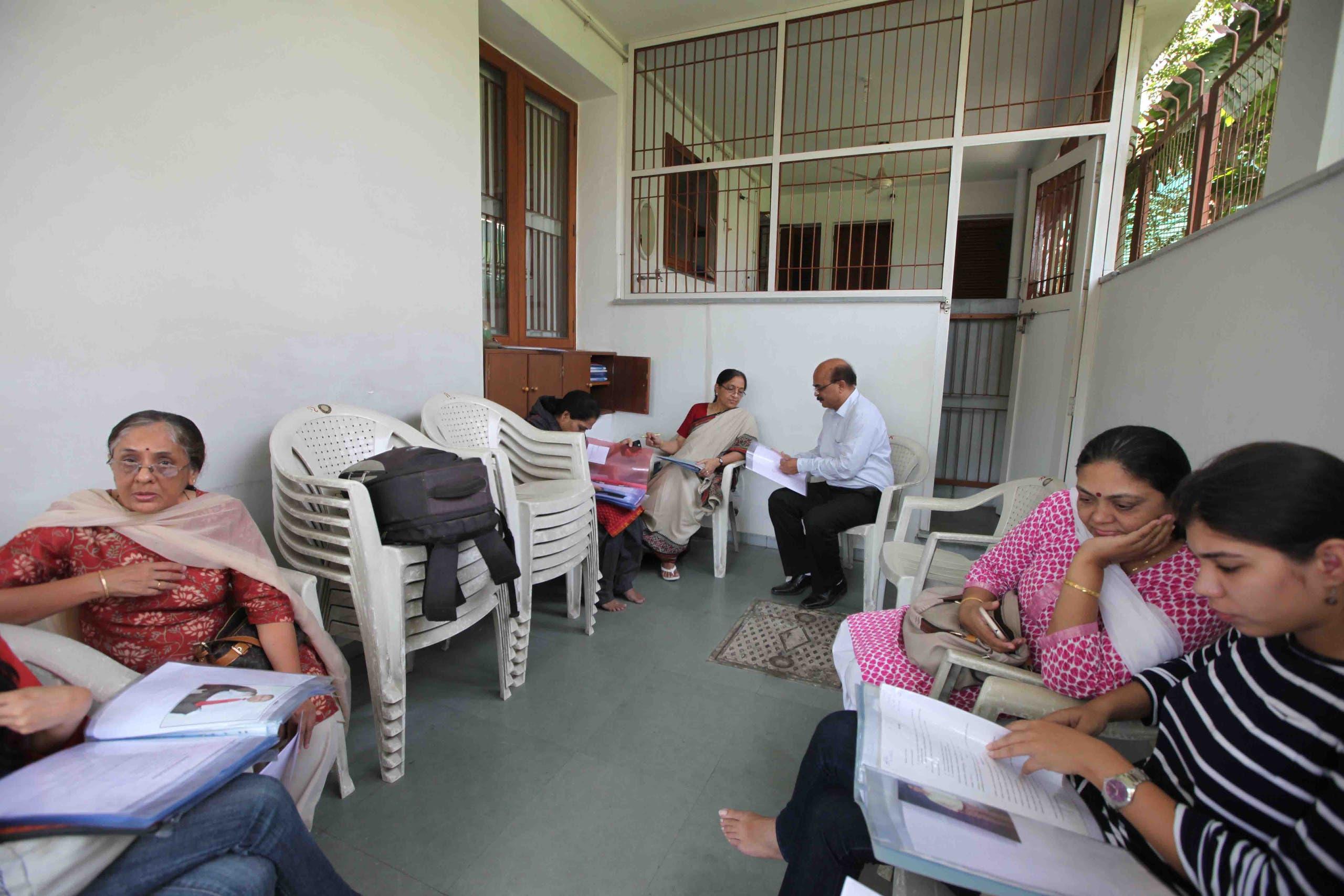 Worried parents at Sangita Patel's special marriage bureau for diabetics. (Supplied)