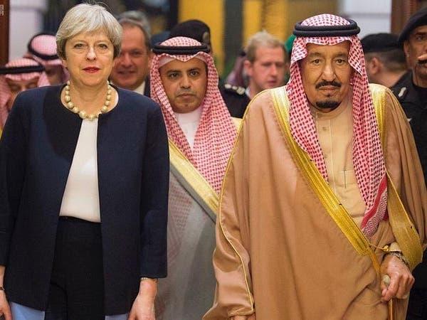 الملك سلمان يبحث مع ماي المستجدات في المنطقة