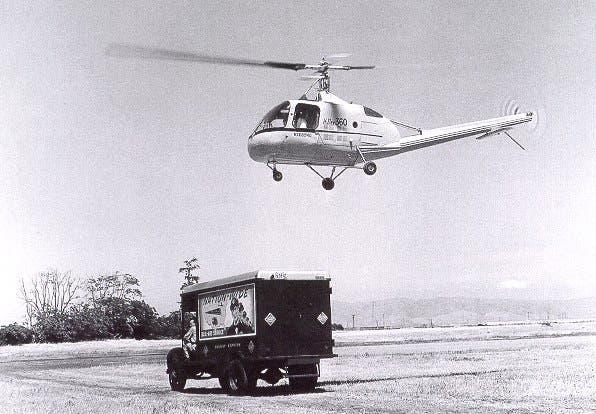 المروحية هيلر 360 حلقت في كافة أنحاء الولايات المتحدة عام 1949