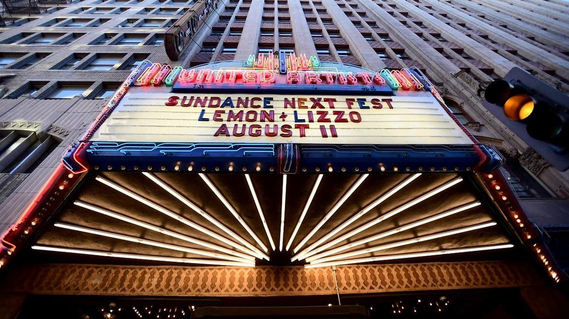 A view of the marquee outisde the theater during 2017 Sundance NEXT FEST at The Theater at The Ace Hotel on August 11, 2017 in Los Angeles, California. (File photo: AFP)