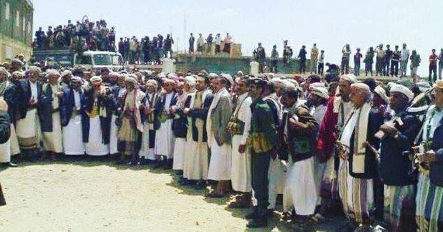 اجتماع قبلي لقبيلة حاشد شمال صنعاء